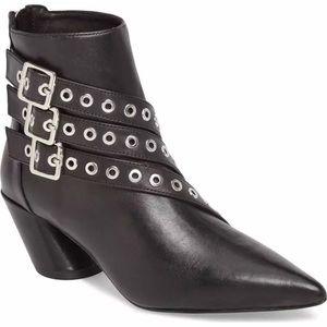 Shellys London Frasier Black Pointy Ankle Boot